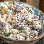 Creamy Grape Salad with Almonds - Andrea Meyers