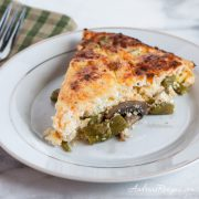 Asparagus Quiche with Mushrooms and Shallots - Andrea Meyers