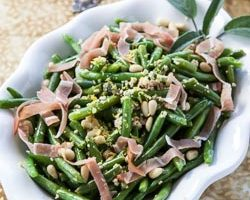 French Green Beans with Prosciutto and Pine Nuts