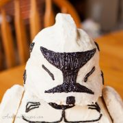 Star Wars Stormtrooper Cake, closeup - Andrea Meyers
