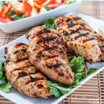 Thai Grilled Chicken with Coconut Milk Marinade - Andrea Meyers