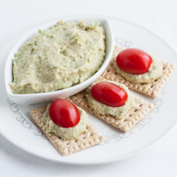 Cannellini Bean Dip with Garlic Scapes