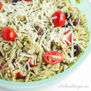 Orzo Salad with Pesto - Andrea Meyers
