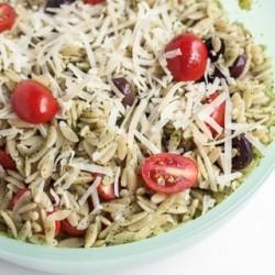Orzo Salad with Pesto Recipe - Andrea Meyers