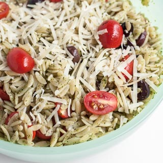 Orzo Salad with Pesto Recipe - Andrea Meyers