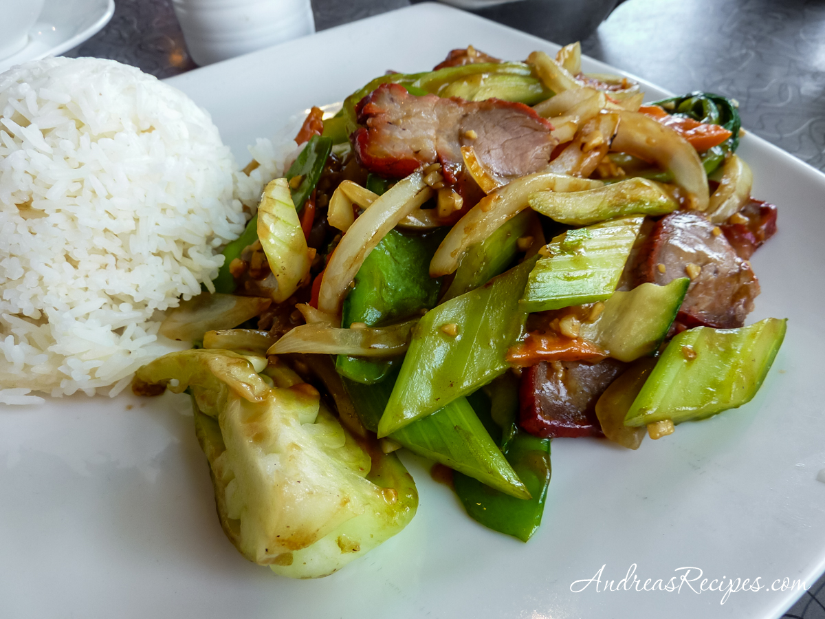Barbecued Pork and Vegetables at Pike Place Chinese Cuisine, Seattle - Andrea Meyers