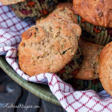Whole Wheat Zucchini Muffins with Greek Yogurt - Andrea Meyers