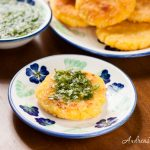 Colombian Arepas with Cheese (Arepas con Queso) and Aji - Andrea Meyers