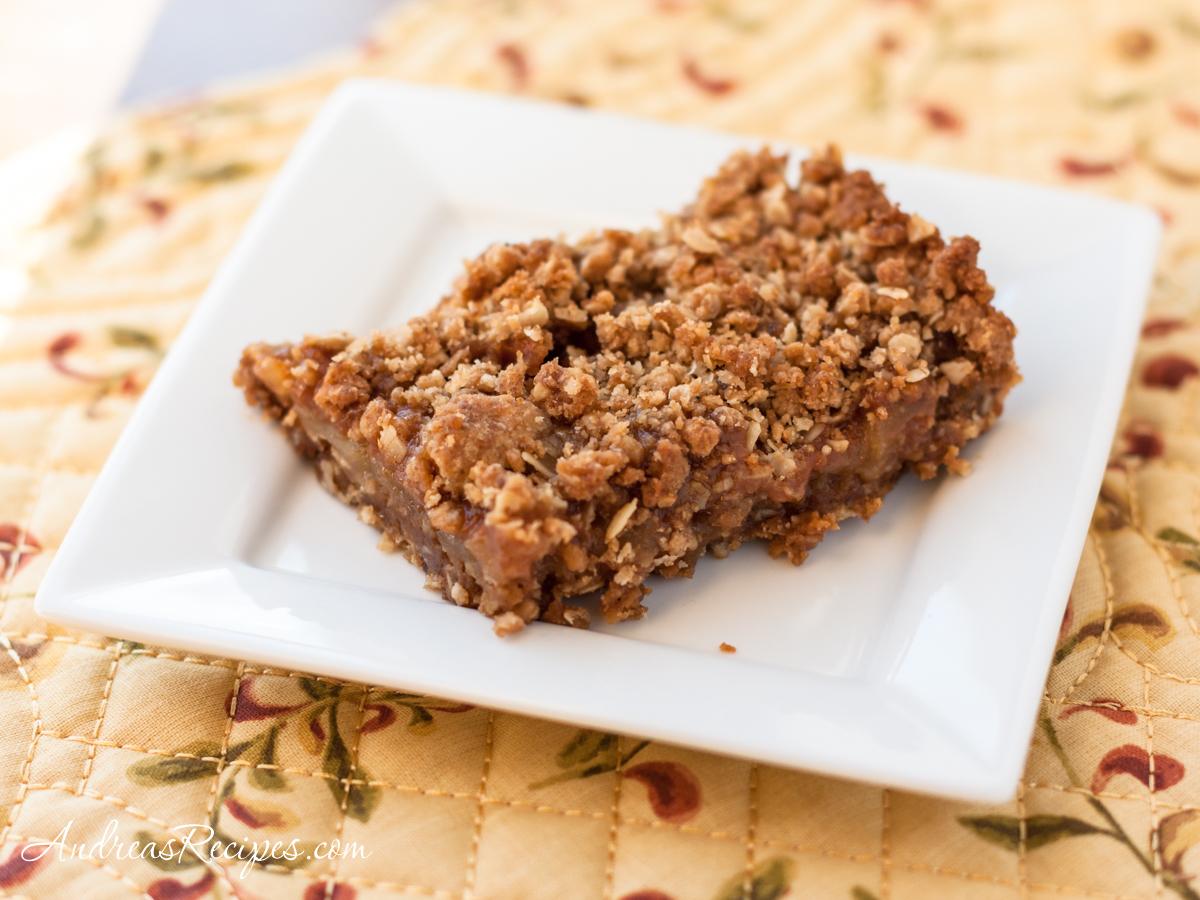 Caramel Apple Crumb Bars - Andrea Meyers