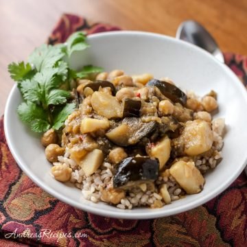 Eggplant, Potato, and Chickpea Curry - Andrea Meyers