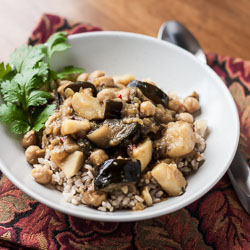 Eggplant, Potato, and Chickpea Curry