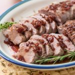 Roast Pork Tenderloins with Maple Pomegranate Glaze - Andrea Meyers