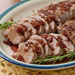 Good Bite Easy Entertaining: Roast Pork Tenderloins with Maple Pomegranate Glaze