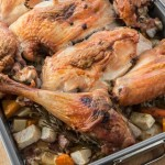 Roast Turkey with Root Vegetables and Gravy - Andrea Meyers