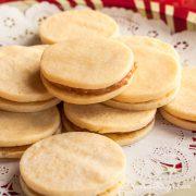 Alfajores (Dulce de Leche Sandwich Cookies) - Andrea Meyers