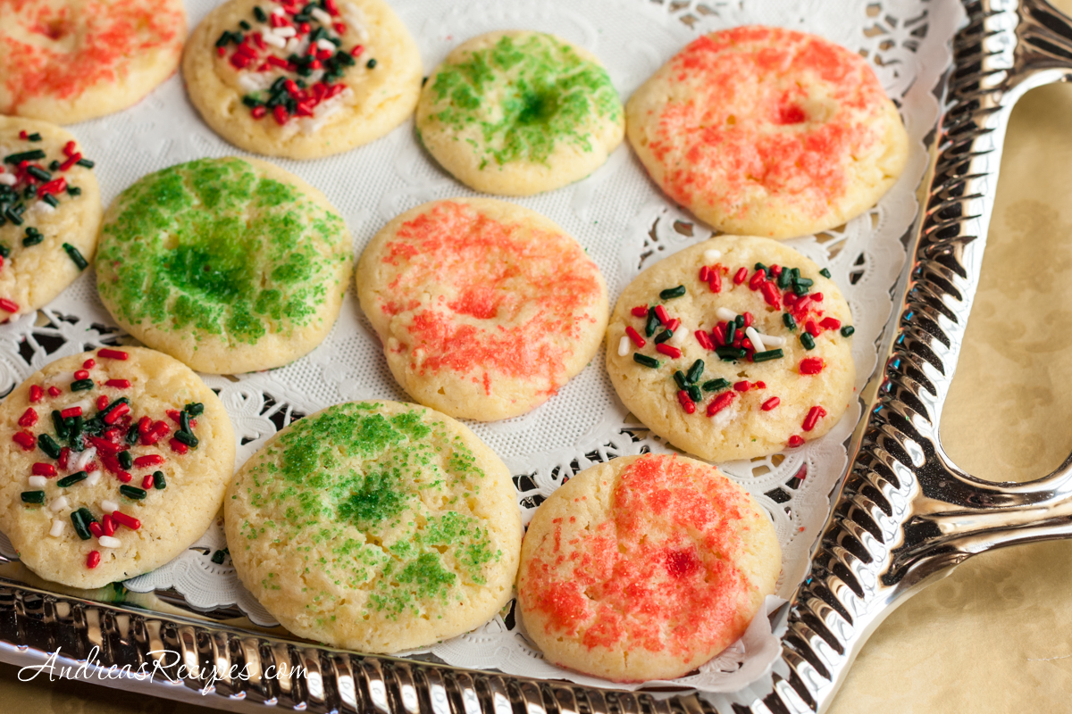 Mexican Butter Cookies with Sprinkles (Galleta con Chochitos) - Andrea Meyers