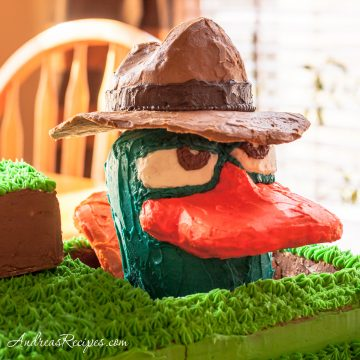 Agent P, aka Perry the Platypus Birthday Cake - Andrea Meyers