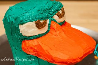 Perry the Platypus cake head - Andrea Meyers