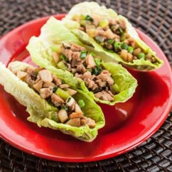 Chinese Chicken Lettuce Wraps Recipe (The Kids Cook Monday) - Andrea Meyers