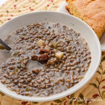 Ham and Lentil Soup - Andrea Meyers
