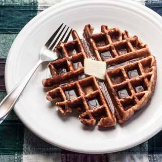 Honey Cinnamon Whole Wheat Waffles Recipe - Andrea Meyers