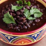 Spicy Mexican Black Beans (The Kids Cook Monday)