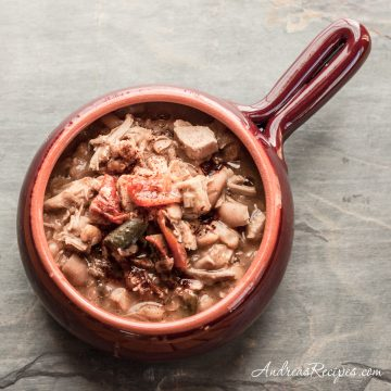 White Chili with Turkey and Cannellini Beans - Andrea Meyers