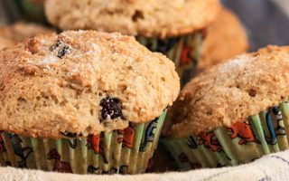 Whole Wheat Cranberry Orange Ricotta Muffins