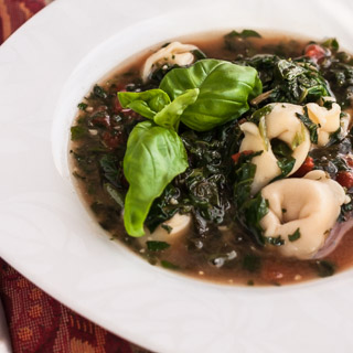 Spinach and Tortellini Soup (The Kids Cook Monday)