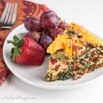 Egg White Breakfast Casserole with Sausage, Spinach, and Tomatoes - Andrea Meyers