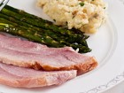 Roasted Ham Recipe with Maple Whiskey Glaze - Andrea Meyers