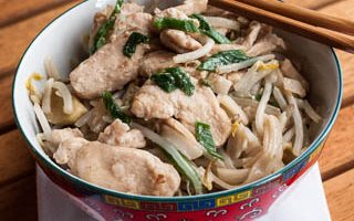 Chicken Chow Fun (The Kids Cook Monday)
