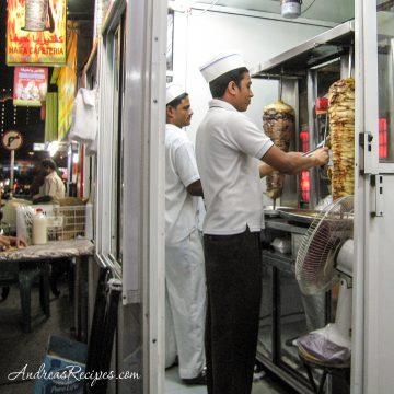Shaving meat for schawarmas, Bahrain - Andrea Meyers