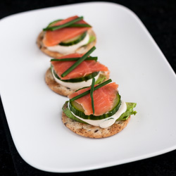 Sushi on a Cracker with Tamari Ginger Dip
