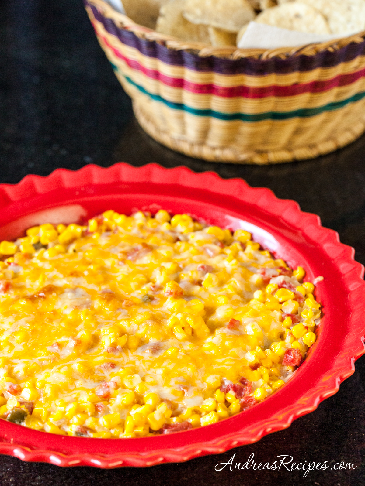 Spicy Creamy Baked Corn - Andrea Meyers