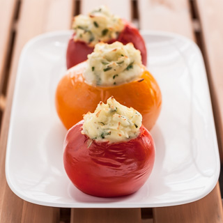 Mashed Potato-Stuffed Tomatoes
