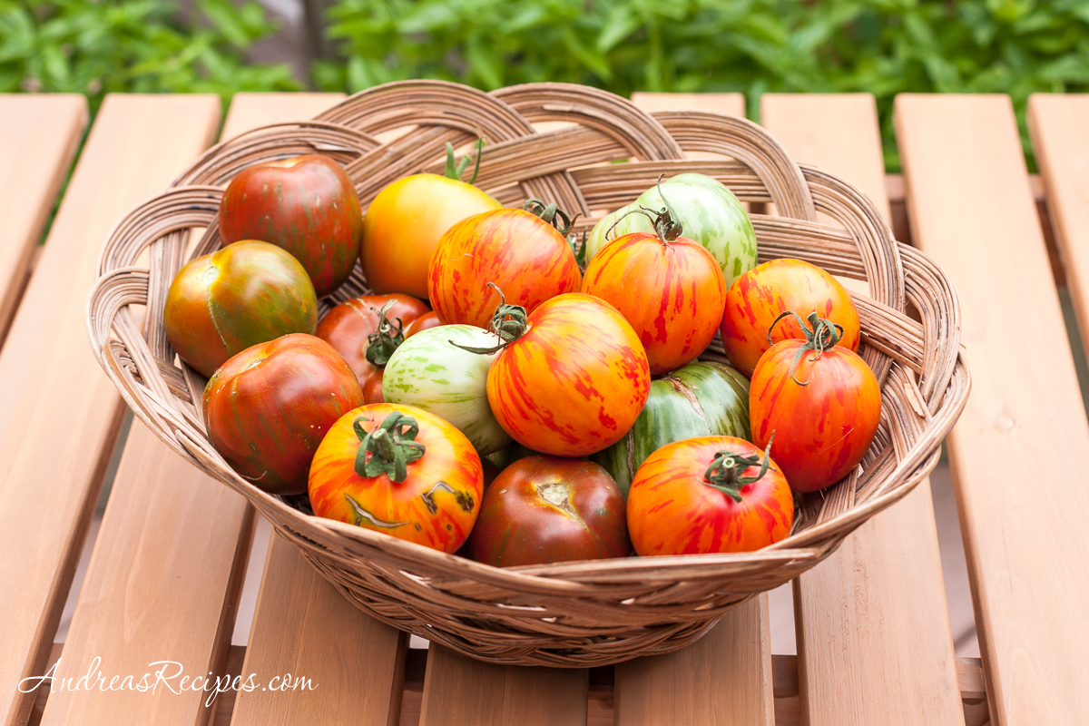 Zebra Tomatoes - Andrea Meyers