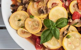 Sauteed Zucchini with Tomatoes, Mushrooms, Peppers, and Basil (The Kids Cook Monday)