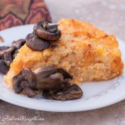 Roasted Butternut Squash Polenta with Smoked Gouda and Sauteed Mushrooms - Andrea Meyers