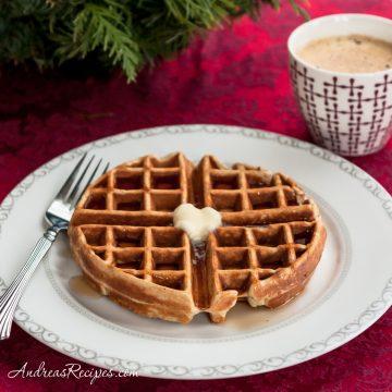Eggnog Waffles - Andrea Meyers