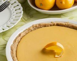 Meyer Lemon Pie with Shortbread Crust