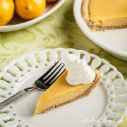 Meyer Lemon Pie with Shortbread Crust - Andrea Meyers