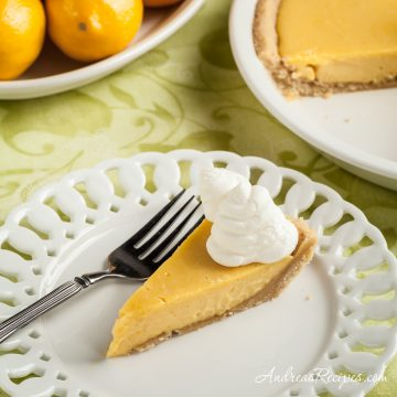 Meyer Lemon Pie with Shortbread Crust - Andrea Meyers