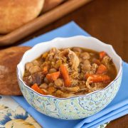 Slow Cooker Chicken Tagine with Chickpeas and Root Vegetables - Andrea Meyers