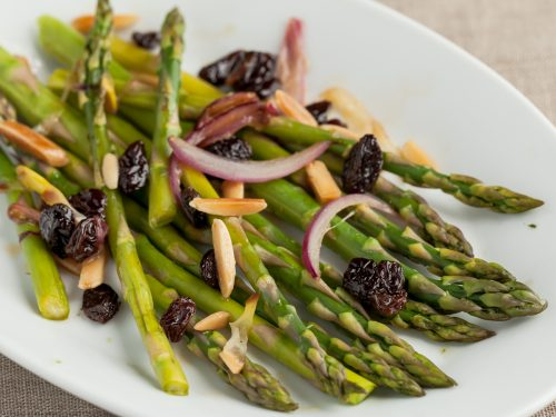 Steamed Asparagus With Red Onions Andrea Meyers