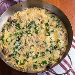 Mushroom Chard Frittata Recipe (The Kids Cook Monday) - Andrea Meyers