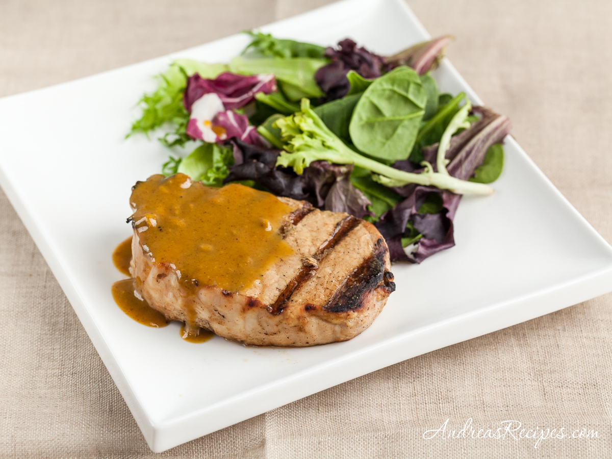 Maple Mustard Grilled Pork Chops - Andrea Meyers