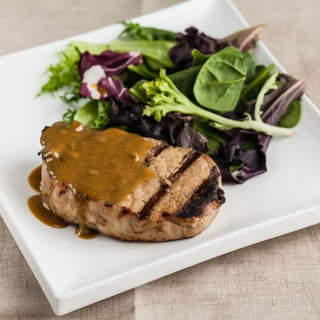 Maple Mustard Grilled Pork Chops