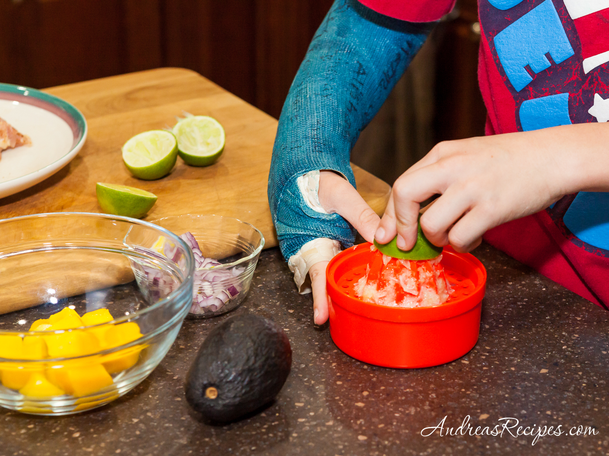 Making mango avocado salsa - Andrea Meyers