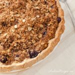 Peach Blueberry Pie with Oatmeal Crumb Topping and Crust - Andrea Meyers